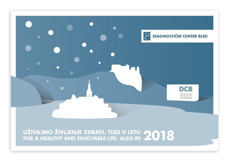 Vesele božične praznike in srečno v letu 2018 vam želi kolektiv Diagnostičnega centra Bled!